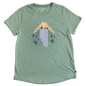 "UNITED BY BLUE - W's S/S Tee ""ROLLING WATERS"" [ ユナイテッドバイブルー レディース クルーネック 半袖Tシャツ オーガニックコットン women's ]"