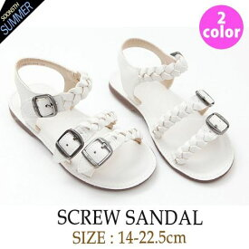 【SOON 夏 新作】screw sandal スクリュー サンダル!韓国子供服 男の子 女の子 キッズ ジュニア 韓国 子供服 14-22.5cm