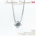 ◆カナディアンダイヤモンド◆ペンダント 一粒ダイヤ 0.50ctUP [PT950(チェーンPT850)]