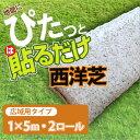 【送料無料)】ぴたっと貼るだけ!西洋芝(芝生シート)[5m×2ロール入り][センター発送](000199・000199-1)