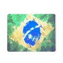 【マウスパッド】アートタッチデザインブラジル国旗柄   ブラジルカラー