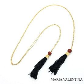 Maria Valentina【ブラジル天然石】ロングネックレス|レッドジャスパー