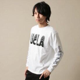 AUDIENCE(オーディエンス) プリントTシャツ カットソー メンズ Tシャツ 米綿 プリント カレッジ UCLA 袖プリント 長袖