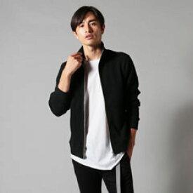 UPSCAPE AUDIENCE アップスケープオーディエンス ブルゾン ジャケット メンズ アウター メンズファッション 日本製 ビッグ ワッフル リブ トップ ニットソー ハイネック