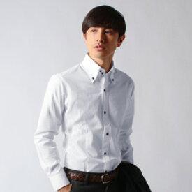 シャツ メンズ カジュアル カジュアルシャツ ブランド ボタンダウンシャツ トップス メンズファッション ビジネス 長袖 日本製 シルケット ブロード デュエボットーニ襟 SPU スプ