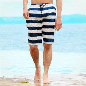 水着 メンズ サーフパンツ スイムショーツ スイムウェア 海パン ハーフパンツ 水陸両用 ショートパンツ ビーチショーツ 無地 花柄 ボーダー 迷彩 水遊び 濡れても大丈夫 SPU スプ 【メール便送料無料】