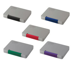 シャチハタ 強着スタンプ台 タート (多目的用)中形 ATGN-2 [全5色(黒、赤、藍色、緑、紫)] /品番表示・製品ロット表示・サイズ表示・検印などに![工業用/産業用/スタンプ/スタンプパッド/