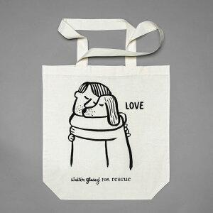 トートバッグ RESC7UE Love ラブ Cloud7 クラウド7 Bag エコバッグ お散歩用 エコバッグ 大きめ 【ペット】 【インテリア】 【海外直輸入】