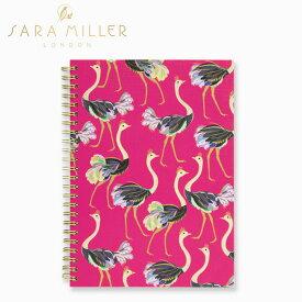 ノート sara miller サラミラー ラグジュアリーA5ノートブック ダチョウ オーストリッチ【ホーム】 【ビジネス雑貨】