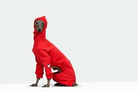 イタグレ 服 vemvem ヴェムヴェム イタリアングレーハウンド・ウィペット専用スーツ フェイス:スピードスーツ/レッド サイズ S/M/L/XL/XXL