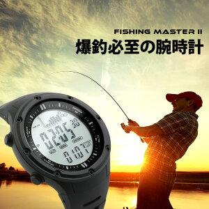 アウトドア腕時計 メンズ 釣れる時間をお知らせ!フィッシングタイマー搭載のデジタルウォッチ!バス釣りや海釣りに大活躍! 気圧計/高度計/天気予測/気温計 時計 ブランド:ラドウェザ