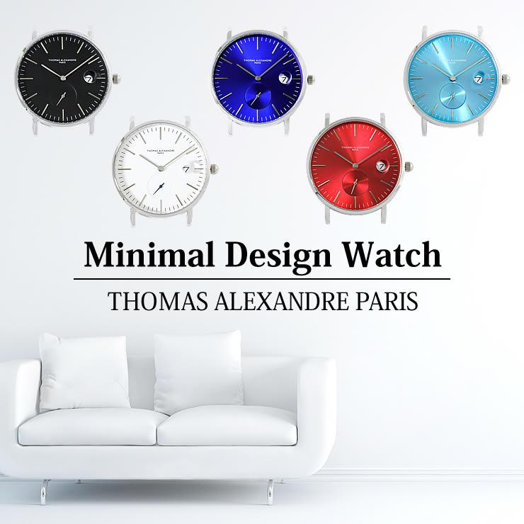 [ Thomas Alexandre トーマ アレクサンドル ] ミニマル デザイン 腕時計 メンズ/レディース/ユニセックス ウォッチ 日本製 シチズン ムーブメント/スモールセコンド/デイト(日付)カレンダー フランス ブランド 時計 WATCH ※本体のみ