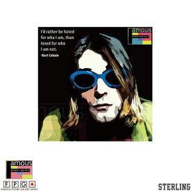 ポップアートパネル / Kurt Cobain -SUNGLASSES- / カート・コバーン / Keetatat Sitthiket キータタット シティケット インテリア雑貨 ウォールアート ファッション かっこいい お洒落 引っ越し 店舗装飾 新生活 誕生日祝い 新築祝い 開店祝い