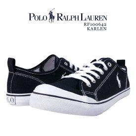 ポロ ラルフローレン POLO Ralph Lauren ラルフ スニーカー / RF100642 スニーカー ブランドスニーカー 靴 ポニー 刺繍 シューズ ブランド キャンバス 疲れにくい ワンポイント シンプル おしゃれ きれいめ 紺 ネイビー 贈り物 KARLEN