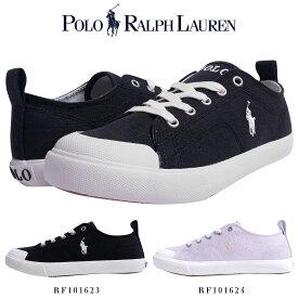 ポロ ラルフローレン POLO Ralph Lauren ラルフ スニーカー/RF101623 RF101624 靴 ブランド スニーカー カジュアル シューズ ポニー刺繍 キャンバス 疲れにくい シンプル おしゃれ きれいめ 黒 ブラック ピンク プレゼント 贈り物 KINGSLEY