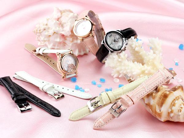 本革腕時計バンド カーフ型押し 腕時計ベルト 腕時計用 替えベルト 牛革バンド 腕時計バンド 牛革ベルト カーフベルト レザーベルト【16mm,14mm】 10P03Dec16