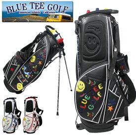 BLUE TEE GOLF ブルーティーゴルフ スマイル & スター カート スタンド 9インチ キャディバッグ 0130 新生活 プレゼント