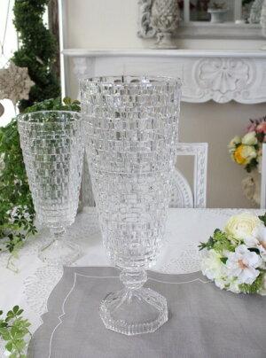ガラス花器・ビエトラトールL花瓶ベースヨーロピアン型洋風輸入雑貨シャビーシックヨーロピアン雑貨アンティーク風