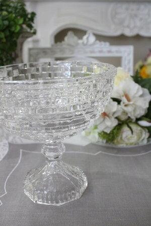 ガラス花器・ビエトラショートL花瓶ベースヨーロピアン型洋風輸入雑貨シャビーシックヨーロピアン雑貨アンティーク風