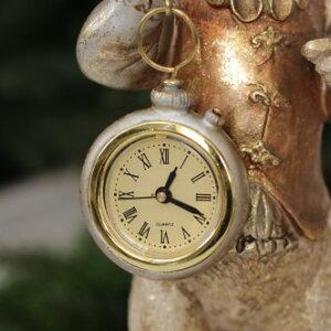 バロッククロック・ラビットウサギの置時計置物シャビー北欧フレンチロマンティック可愛いロココ調輸入雑貨