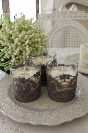 フランスメイドの素敵な香り♪♪アロマキャンドルS(ローズ、ラベンダー、コットンフラワー、フィグ、ライスパウダー、オーキッド)オーガニックルームスプレーフランス製アロマオイル