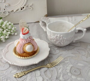 アンティーク風なフレンチ食器シェルシリーズ【カップ&ソーサーC&S】フレンチ食器フランスアンティーク調陶器フレンチカントリーシャビー
