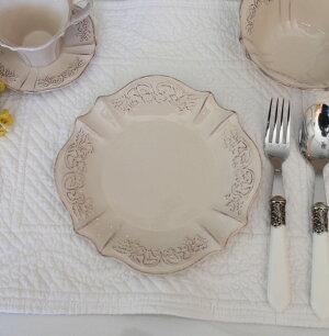 フレンチカントリーなピンクベージュの食器【ペッシュシリーズケーキプレートケーキ皿】フレンチ食器フランスアンティーク風陶器カフェ食器アンティーク食器雑貨antique
