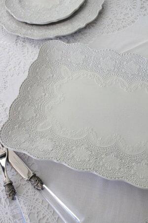 【LaCeramicaV.B.Cラ・セラミカイタリア】レクトプレートL(071)大皿長方形イタリア製輸入食器シャビーシックアンティーク風洋食器