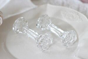 ポーランド製クリスタル・ナイフレストカトラリーレスト(24%クリスタル製)ガラス輸入カトラリー食器雑貨フレンチカントリーアンティーク風