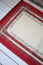 フランス ラグマット SERGE LESAGE (セルジュ ルサージュ)社 SATINE(ROUGE) 140×200 フランス製 カーペット 絨毯 スタイルフランス 綿100%