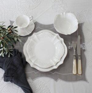 シャビーシックなフレンチ食器【パリスシリーズカップ&ソーサーC&S】アンティーク風陶器アンティーク食器白い食器お洒落