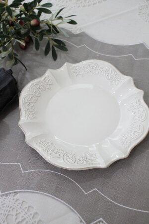 シャビーシックなフレンチ食器【パリスシリーズケーキプレートケーキ皿】アンティーク風陶器アンティーク食器白い食器お洒落