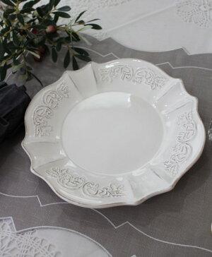 シャビーシックなフレンチ食器【パリスシリーズディナープレートディナー皿】アンティーク風陶器アンティーク食器白い食器お洒落