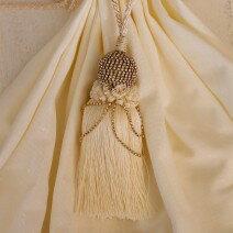 トルコ製の美しいタイバック・タッセル♪(ラウンド型・ホワイト・ベージュ・グレー)タッセルタイバックカーテン留めカルトナージュタッセル飾り輸入雑貨