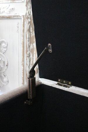 【待望の再入荷】ベルベットグレーのキルティングベンチ(収納付き)フレンチグレーオットマンベンチスツール輸入家具アンティーク風シャビーシックフレンチカントリー