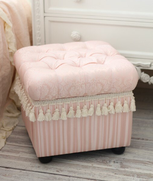 Baby Pink damask and stripes! with storage stool Ottoman light pink damask design chair upholstered & style-rococo | Rakuten Global Market: Baby Pink damask and stripes ... islam-shia.org
