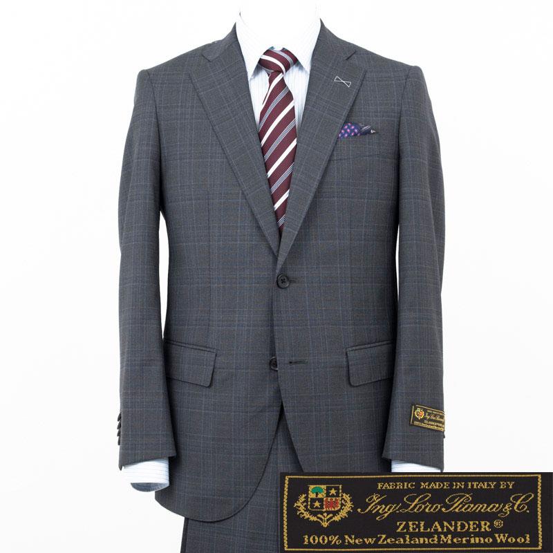 Style Edition|スタイルエディション Loro Piana ロロ ピアーナ ZELANDER DREAM グレー チェック スーツ