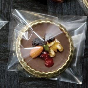 【バレンタイン】チョコレートギフトセット丸型トレーと袋セット【デザートスイーツパッケージ】