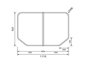 パナソニック 風呂ふた 組フタ:1150用 変形型 2枚組 品番 GTD71KN11 正規品保証