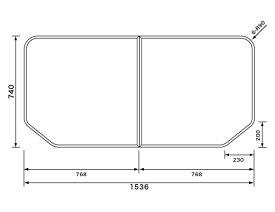 断熱組フタ:1600用 パナソニック 変形型 2枚組
