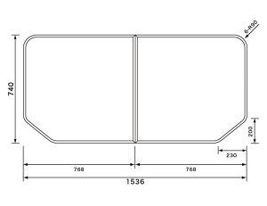 パナソニック 風呂ふた 断熱組フタ:1600用 変形型 2枚組 品番 GTD74KN91