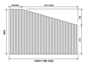 パナソニック 風呂フタ 巻きフタ(フック無) 変形型 品番RLFK76MF1KKRC