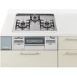 ガス W600ガラストップ両面焼連動銀 パナソニック ラクシーナ リビングステーション リフォムスなどのキッチン周り商品 QSS77EG1LP