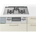 ガス W750ガラストップ両面焼連動銀 パナソニック ラクシーナ リビングステーション リフォムスなどのキッチン周り商品 QSS77EG213A