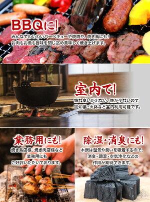 BBQに室内に、業務用や屋内利用にも利用可能なしらおい木炭