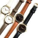 オンオフ対応シンプル腕時計 ウォッチ レディース 日本製 メイドインジャパン ホワイト ブラウン グレー ブラック アラビア数字 ビジネス カジュアル