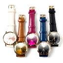 グラデーション腕時計 ウォッチ レディース 日本製ムーブメント メイドインジャパンムーブメント カラフル ホワイト ブラウン レッド ブルー ブラック