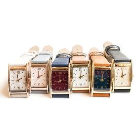 バーインデックスレクタングル腕時計 シンプルウォッチ レディース 日本製ムーブメント メイドインジャパンムーブメント ラグジュアリー カジュアル アイボリー グレー ネイビー オレンジ ブラック ブラウン