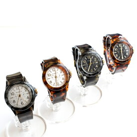べっ甲柄メンズ腕時計 日本製ムーブメント メイドインジャパンムーブメント 男性用 メンズウォッチ カジュアル トラヤ