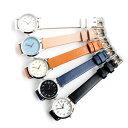 シンプルアラビア数字のレディース腕時計 電池寿命4年 丸型 日本製ムーブメント カジュアル ビジネス ミニマル ジョージ